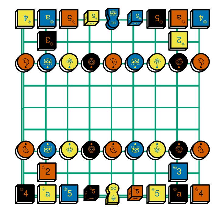 Shogi starting diagram