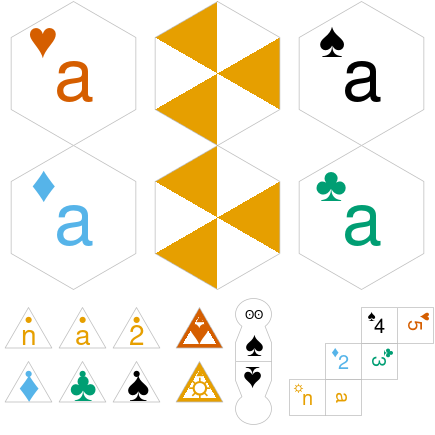 'checkersGrob' even works on hexagon shaped tiles