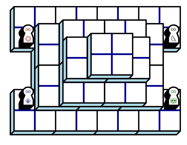Starting diagram for a game of Everest