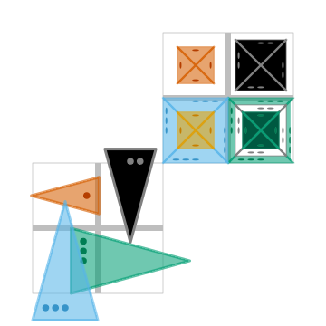 Looney Pyramids (2D)