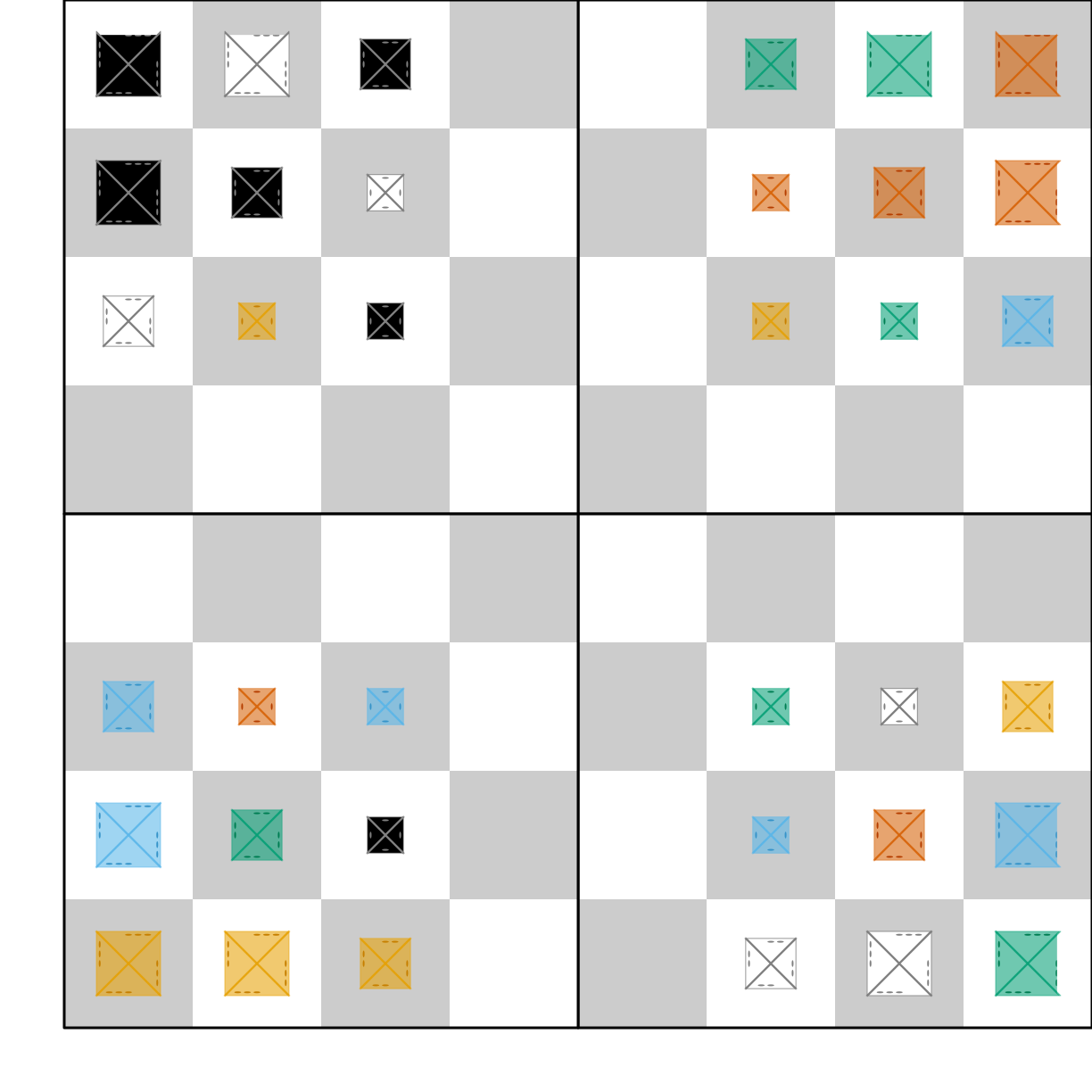 Setup for Andy Looney's Martian Chess (2D)