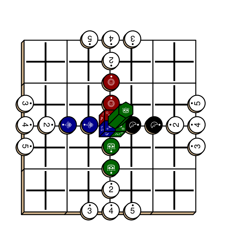 Starting diagram for a game of Tablut